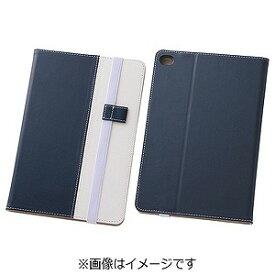 レイ・アウト iPad mini 4用バイカラー・ブックレザーケース 合皮 ネイビー/ホワイト RT‐PM3LC7/NW