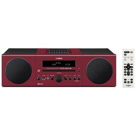 YAMAHA 「ワイドFM対応」Bluetooth対応 ミニコンポ MCR‐B043R (レッド)