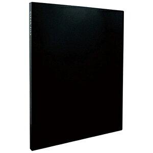 セキセイ クリヤーファイル「高透明」A4−S 20ポケット KP−2512 (ブラック)