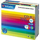 三菱化学 データ用CD−R データ用CD 5mmケース入り 10枚パック SR80SP10V1