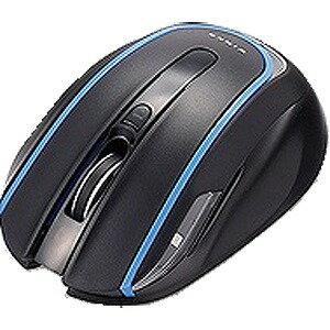 エレコム ワイヤレスBlueLEDマウス アイドリングストップ機能搭載(5ボタン) M‐WK01DBBK (ブラック)