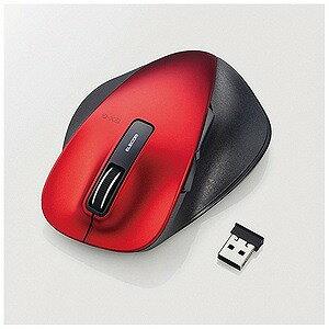 エレコム ワイヤレスBlueLEDマウスM−XGL10DBシリーズ Lサイズ(5ボタン) M‐XGL10DBRD (レッド)