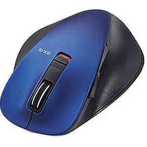 エレコム ワイヤレスBlueLEDマウスM−XGL10BBシリーズ Lサイズ(5ボタン) M‐XGL10BBBU (ブルー)