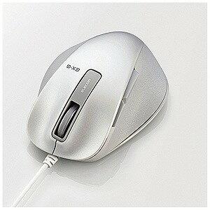 エレコム 有線BlueLEDマウスEX−G M−XGS10UBシリーズ Sサイズ(5ボタン) M‐XGS10UBWH (ホワイト)