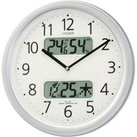 リズム時計工業 電波掛け時計「ネムリーナカレンダー」 4FYA01‐019