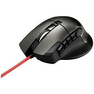 エレコム 有線光学式ゲーミングマウス「USB」DUXシリーズ(14ボタン・ブラック) M‐DUX50BK