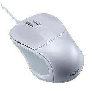 ナカバヤシ 有線BlueLEDマウス「USB 1m 」静音 mini(3ボタン・ホワイト) MUS‐UKT110W