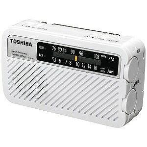 東芝 「ワイドFM対応」FM/AM 手回し充電ラジオ TY‐JKR5W(送料無料)