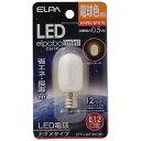エルパ LED電球 ナツメタイプ(電球色) LDT1L‐G‐E12‐G101