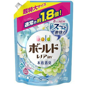 P&G Bold(ボールド)アクアピュアクリーンの香り つめかえ用超特大サイズ 1260ml