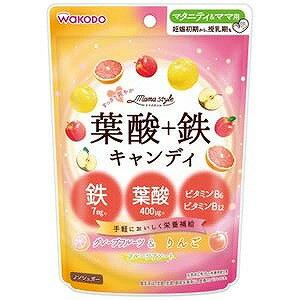 和光堂 「ママスタイル」葉酸+鉄キャンディ78g ヨウサン+テツキャンディ(78g