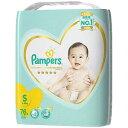 P&G Pampers(パンパース) はじめての肌へのいちばん テープ ウルトラジャンボ Sサイズ(4kg−8kg) 76枚〔お…