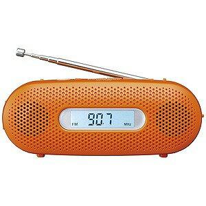 パナソニック 「ワイドFM対応」FM/AM 手回し充電ラジオ RF‐TJ20‐D(オレンジ)