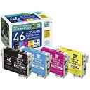 エコリカ IC4CL46互換エプソン用リサイクルインクカートリッジ ECI‐E464P/BOX (4色パック)