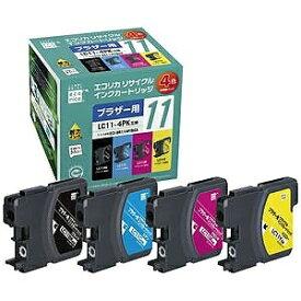 エコリカ LC114PK互換ブラザー用リサイクルインクカートリッジ ECI−BR114P/BOX (4色パック)