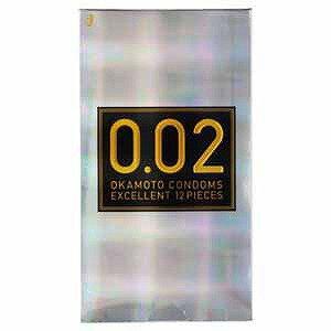 オカモト 薄さ均一 002EX ナチュラル 12個入り「コンドーム」「避妊用品」 0.02EX