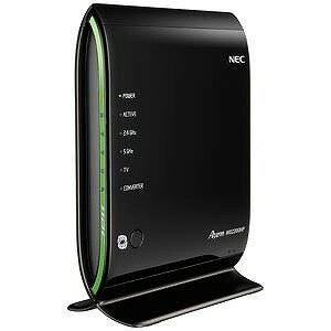 NEC 無線LANルータ(11ac/n/a 1733Mbps+11n/g/b 450Mbps・親機単体) PA‐WG2200HP(ブラック)(送料無料)