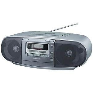 パナソニック 「ワイドFM対応」CDラジカセ(ラジオ+CD+カセットテープ) RX‐D47‐S (シルバー)(送料無料)