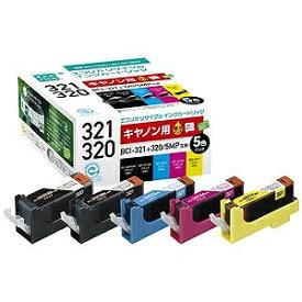 エコリカ BCI−321+320/5MP互換キャノン用リサイクルインクカートリッジ ECI‐C320+3215P/BOX(4色+320PGBK)