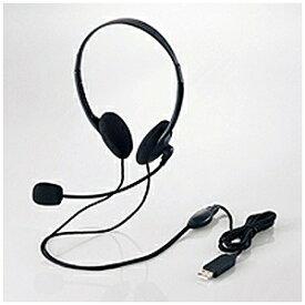 エレコム USBヘッドセットマイクロフォン/1.8m HS‐HP27UBK