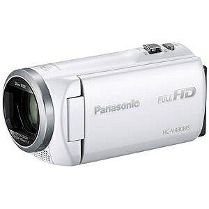 パナソニック SD対応 32GBメモリー内蔵フルハイビジョンビデオカメラ HC−V480MS−W (ホワイト)(送料無料)