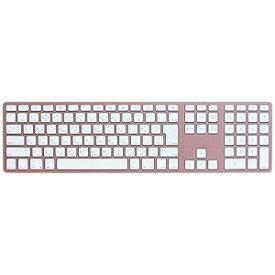 MATIAS ワイヤレスキーボード Matias Wireless Aluminum Keyboard FK418BTRG‐JP (Rose Gold)