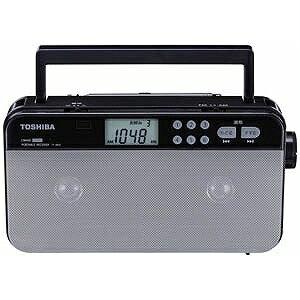 東芝 (ワイドFM対応)FM/AM ステレオラジオ(シルバー) TY‐SR55S(送料無料)