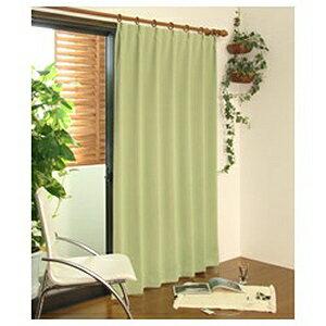 東京シンコール 遮光ドレープカーテン モンブラン(100×135cm/ライトグリーン)「日本製」 50901751 LG(100