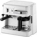 デロンギ 「エスプレッソマシン兼用」コーヒーメーカー BCO410J‐W (ホワイト)(送料無料)