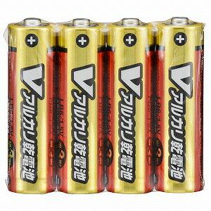 オーム電機 アルカリ乾電池単三4本パック LR6S4PV
