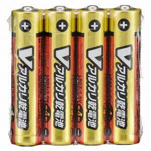 オーム電機 アルカリ乾電池単四4本パック LR03S4PV