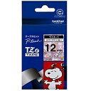 ブラザー ピータッチ用スヌーピーキャラクターテープ(12mm) TZe‐UP31 (スヌーピーピンク/黒文字)