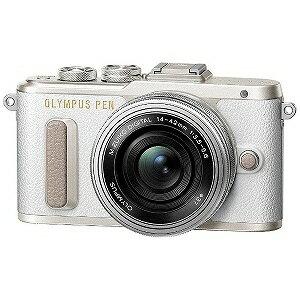 オリンパス PEN E−PL8 14−42mm EZレンズキット(ホワイト/ミラーレス一眼カメラ) PENEPL8・1442MMEZレンズ(送料無料)