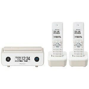 パイオニア (子機2台)デジタルコードレス留守番電話機 TF−FD35T−TY (マロン)