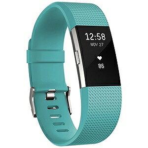 ウェアラブル端末 心拍計+フィットネスリストバンド「Fitbit Charge2」(Sサイズ) FB407STES−JPN (Teal)(送料無料)