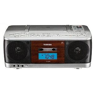 東芝 CDラジカセ(ラジオ+CD+カセットテープ) TY−CDK9(S)シルバー(送料無料)