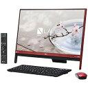 NEC 23.8型デスクトップPC[Celeron・HDD 1TB] PC−DA370GAR (ラズベリーレッド)(送料無料)