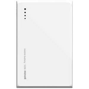 マクセル USBモバイルバッテリー +micro USBケーブル 20cm (5200mAh) MPC‐CW5200WH(ホワイト)
