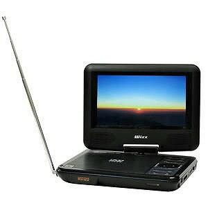 WIZZ 7V型 ワイドFM放送対応ポータブルDVDプレーヤー DV‐PF700