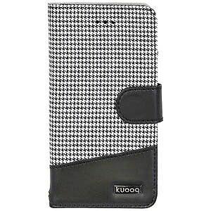 オウルテック iPhone 7用 kuboq 手帳型ケース PU カードポケット付 OWL‐CVIP705CG‐BK 千鳥格子柄