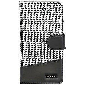 オウルテック iPhone 7 Plus用 kuboq 手帳型ケース PU カードポケット付 OWL‐CVIP7P05CG‐BK 千鳥格子柄