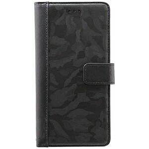 オウルテック iPhone 7 Plus用 kuboq 手帳型ケース PU 表迷彩柄 カードポケット付 OWL‐CVIP7P08CA‐BK ブラック