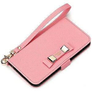 PGA iPhone 7用 フリップカバー ダブルリボン PG‐16MFP22PK ピンク