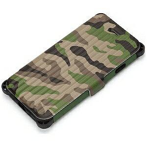 PGA iPhone 7用 タフフリップカバー PG‐16MFP32GR 迷彩 ミリタリーグリーン