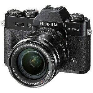 富士フィルム FUJIFILM X−T20【レンズキット】(ブラック/ミラーレス一眼カメラ) FXT20LKB(送料無料)