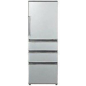 AQUA 4ドア冷蔵庫(355L・右開き) AQR−361F−S (ミスティシルバー)(標準設置無料)