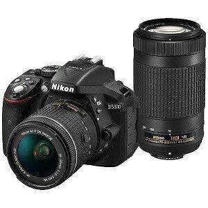 ニコン D5300(AF−P ダブルズームキット)(ブラック/デジタル一眼レフカメラ) D5300WZ3(送料無料)
