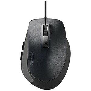 バッファロー 有線BlueLEDマウス Sサイズ(5ボタン・ブラック) BSMBU500SBK