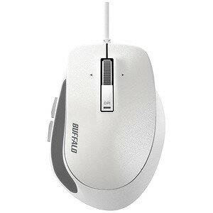 バッファロー 有線BlueLEDマウス Sサイズ(5ボタン・ホワイト) BSMBU500SWH
