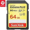 サンディスク SDXCメモリカード 「エクストリーム プラス」 UHS−I/UHS スピードクラス3対応 [Class10対応/64GB] SDSDXWF−064G−JBJCP(ビックカメラグループ専用モデル)